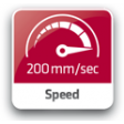 Snelle beweging van 20 cm / seconde