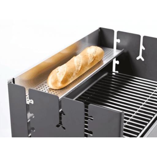 De dancook universele houder kan aan de achterwand gehangen worden om bijvoorbeeld brood op te warmen