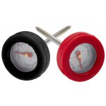 Mini vleesthermometer, siliconen rand, set van 4