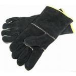 Grillpro zwarte leren barbecue handschoenen